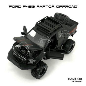 โมเดลรถ FORD F-150 RAPTOR OFFROAD สีดำด้าน (1:32) เปิดได้ครบ