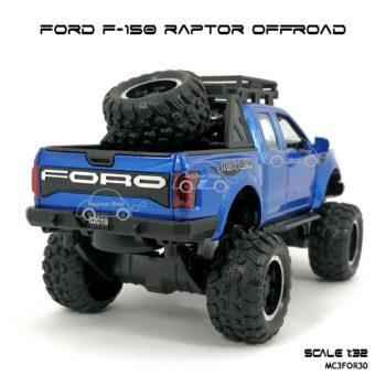 โมเดลรถ FORD F-150 RAPTOR OFFROAD สีน้ำเงิน (1:32) โมเดลรถเหมือนจริง
