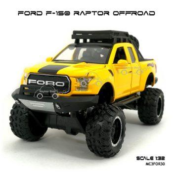 โมเดลรถ FORD F-150 RAPTOR OFFROAD สีเหลือง (1:32) รถโมเดลเหมือนจริง