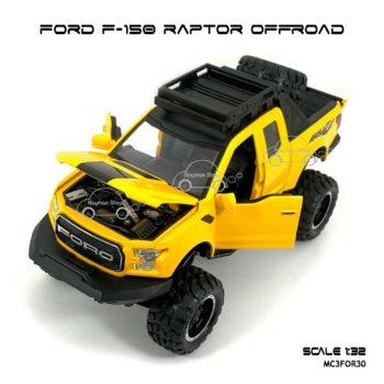 โมเดลรถ FORD F-150 RAPTOR OFFROAD สีเหลือง (1:32)