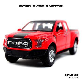 โมเดลรถ FORD F-150 RAPTOR สีแดง (1:32) รถโมเดลเหมือนจริง