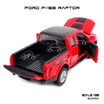 โมเดลรถ FORD F-150 RAPTOR สีแดง (1:32) เปิดกระบะท้ายรถได้ครบ