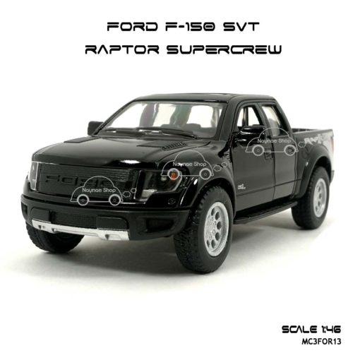 โมเดลรถ FORD F-150 RAPTOR SUPERCREW สีดำ (1:46) โมเดลสำเร็จ