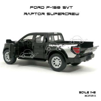 โมเดลรถ FORD F-150 RAPTOR SUPERCREW สีดำ (1:46) รุ่นขายดี