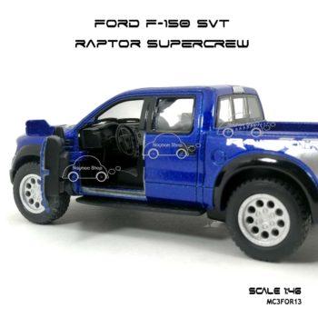 โมเดลรถ FORD F-150 RAPTOR SUPERCREW สีน้ำเงิน (1:46) ภายใน เหมือนรถจริง