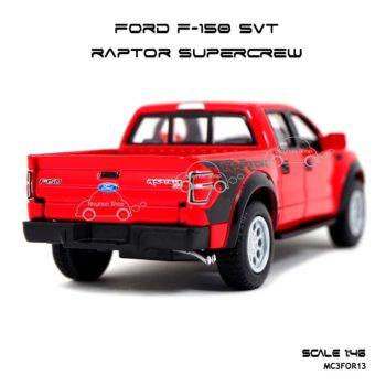 โมเดลรถ FORD F-150 RAPTOR SUPERCREW สีแดง (1:46) ประกอบสำเร็จ