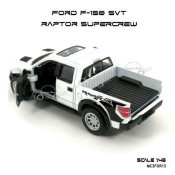 โมเดลรถ FORD F-150 RAPTOR SUPERCREW สีขาว (1:46) เปิดท้ายรถได้