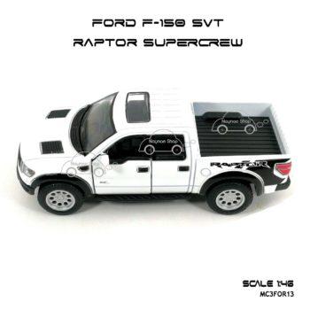 โมเดลรถ FORD F-150 RAPTOR SUPERCREW สีขาว (1:46) โมเดลสำเร็จ