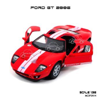 โมเดลรถ FORD GT 2006 สีแดง (1:36) เปิดประตูซ้ายขวาได้