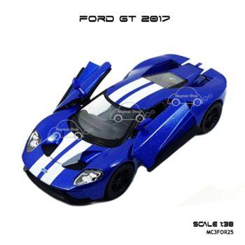 โมเดลรถ FORD GT 2017 คาดลาย สีน้ำเงิน (1:38) ประตูปีกนก