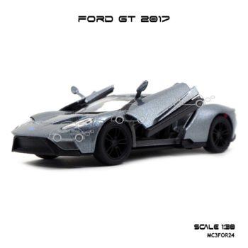 โมเดลรถ FORD GT 2017 สีเทา (1:38) เปิดประตูปีกนกได้
