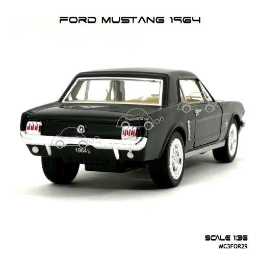 โมเดลรถ FORD MUSTANG 1964 สีดำ (1:36) โมเดลรถเหล็ก