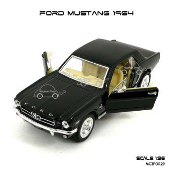 โมเดลรถ FORD MUSTANG 1964 สีดำ (1:36) เปิดประตูรถได้