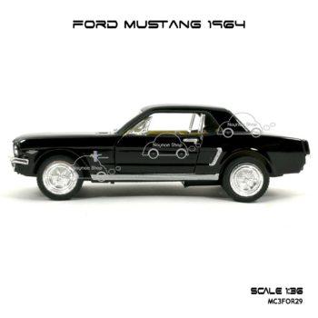 โมเดลรถ FORD MUSTANG 1964 สีดำ (1:36) โมเดลสำเร็จ