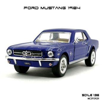 โมเดลรถ FORD MUSTANG 1964 สีน้ำเงิน (1:36) โมเดลสำเร็จ