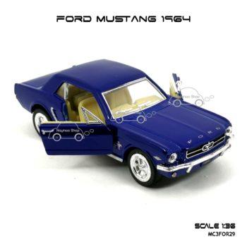 โมเดลรถ FORD MUSTANG 1964 สีน้ำเงิน (1:36) เปิดประตูซ้ายขวาได้