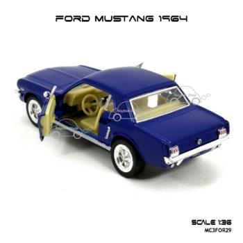 โมเดลรถ FORD MUSTANG 1964 สีน้ำเงิน (1:36) ภายในรถ จำลองเหมือนจริง