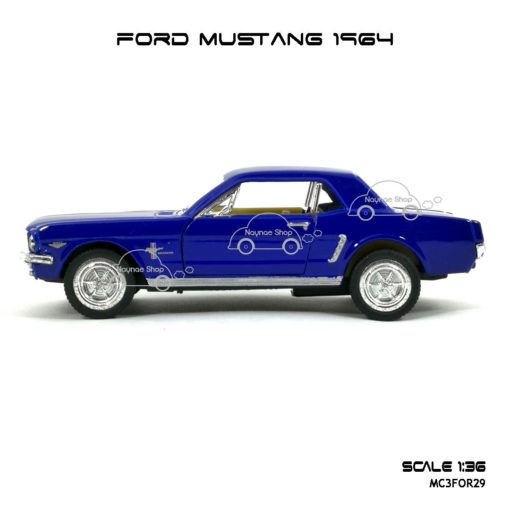 โมเดลรถ FORD MUSTANG 1964 สีน้ำเงิน (1:36) โมเดล มัสแตง โบราณ