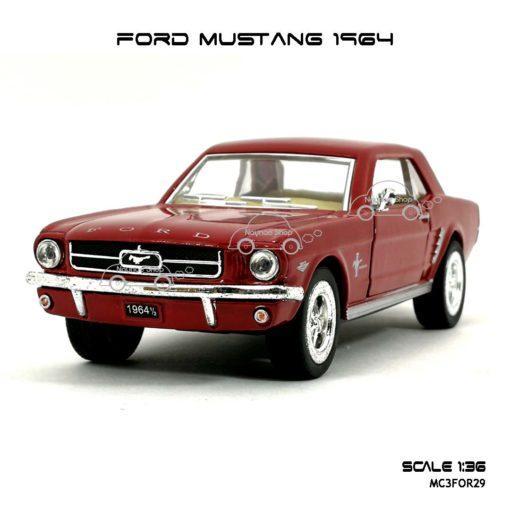 โมเดลรถ FORD MUSTANG 1964 สีแดง (1:36) โมเดล มัสแตง โบราณ