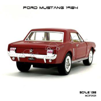 โมเดลรถ FORD MUSTANG 1964 สีแดง (1:36) โมเดล น่าสะสม