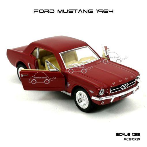 โมเดลรถ FORD MUSTANG 1964 สีแดง (1:36) เปิดประตูได้