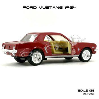 โมเดลรถ FORD MUSTANG 1964 สีแดง (1:36) รถจำลอง เหมือนจริง
