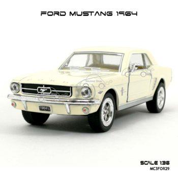โมเดลรถ FORD MUSTANG 1964 สีขาวครีม (1:36) โมเดล น่าสะสม
