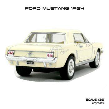 โมเดลรถ FORD MUSTANG 1964 สีขาวครีม (1:36) รุ่นขายดี