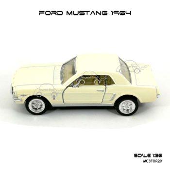 โมเดลรถ FORD MUSTANG 1964 สีขาวครีม (1:36) โมเดลประกอบสำเร็จ