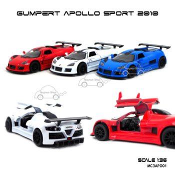 โมเดลรถสปอร์ต GUMPERT APOLLO SPORT 2010 (1:36) 3 สี