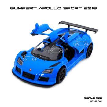 โมเดลรถสปอร์ต GUMPERT APOLLO SPORT 2010 สีน้ำเงิน (1:36) เปิดประตูปีกนกได้