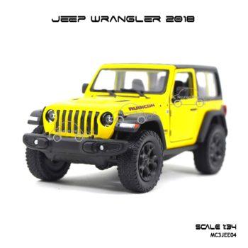โมเดลรถ JEEP WRANGLER 2018 สีเหลือง (1:34)
