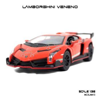 โมเดลรถ LAMBORGHINI VENENO สีส้ม (1:36) โมเดลรถ จำลองเหมือนจริง