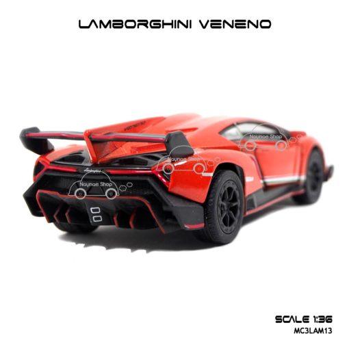 โมเดลรถ LAMBORGHINI VENENO สีส้ม (1:36) โมเดลรถ ประกอบสำเร็จ