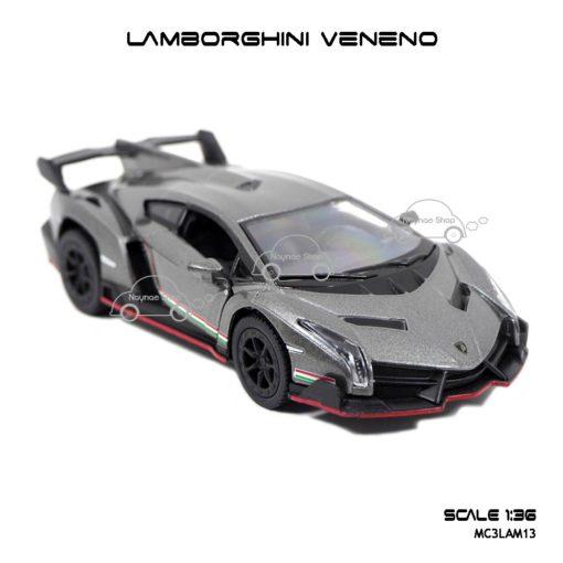 โมเดลรถ LAMBORGHINI VENENO สีเทา (1:36) รถเหล็ก เหมือนจริง