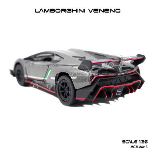 โมเดลรถ LAMBORGHINI VENENO สีเทา (1:36) ท้ายรถ สวยมากๆ