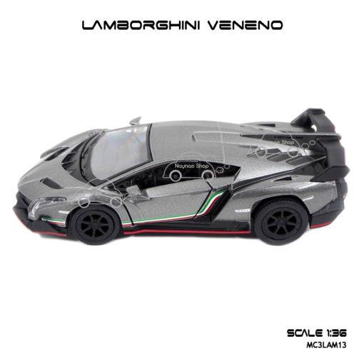 โมเดลรถ LAMBORGHINI VENENO สีเทา (1:36) โมเดลรถ จำลองเหมือนจริง