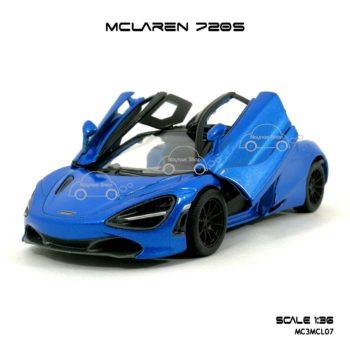 โมเดลรถ แมคลาเรน 720S สีฟ้า (1:36) ประตูปีกนก เท่ห์ๆ