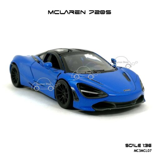 โมเดลรถ แมคลาเรน 720S สีฟ้า (1:36) รถสปอร์ตรุ่นขายดี