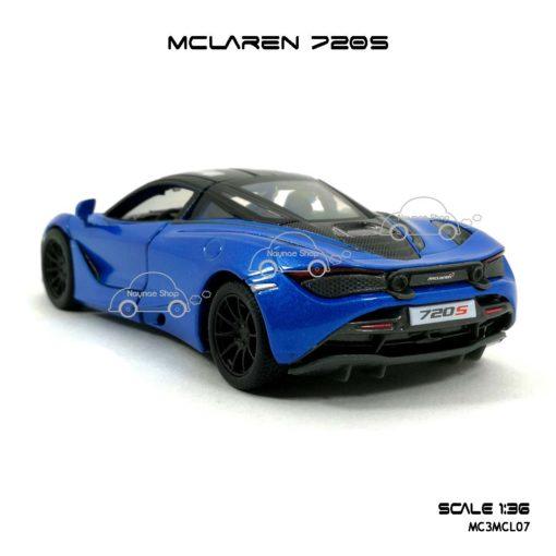 โมเดลรถ แมคลาเรน 720S สีฟ้า (1:36) ท้ายรถสวยๆ