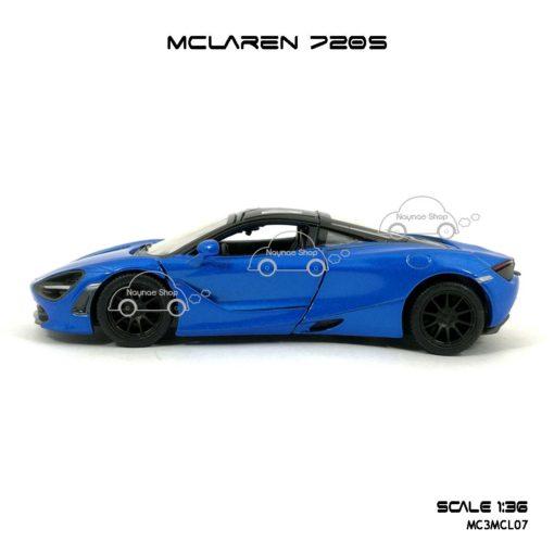 โมเดลรถ แมคลาเรน 720S สีฟ้า (1:36) โมเดลรถ ประกอบสำเร็จ