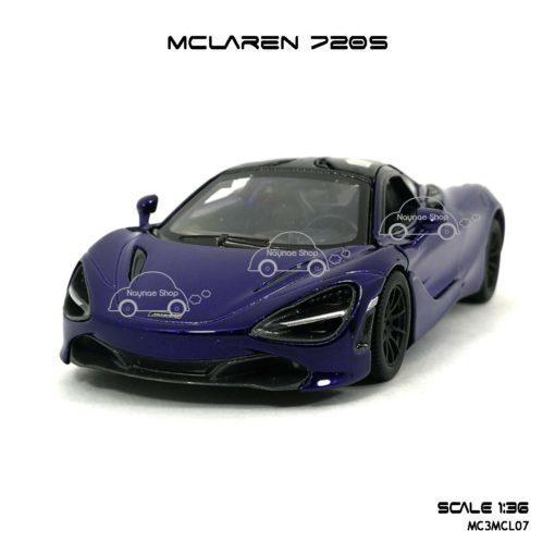 โมเดลรถ แมคลาเรน 720S สีม่วง (1:36) โมเดลรถ ประกอบสำเร็จ