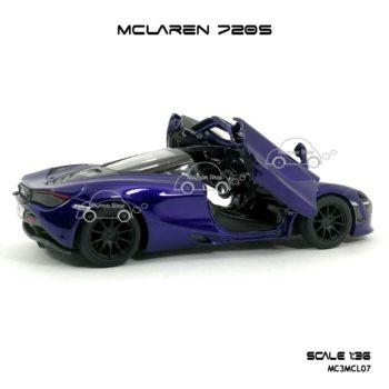 โมเดลรถ แมคลาเรน 720S สีม่วง (1:36) ภายในรถจำลองเหมือนจริง