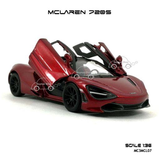 โมเดลรถ แมคลาเรน 720S สีแดง (1:36) รถเหล็ก ราคาถูก