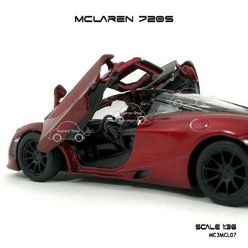 โมเดลรถ แมคลาเรน 720S สีแดง (1:36) ภายใน จำลองเหมือนจริง