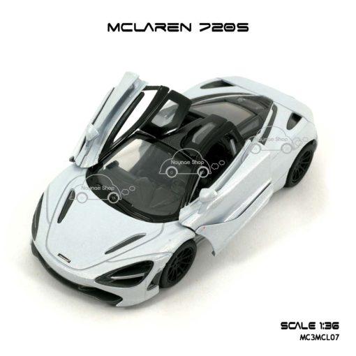 โมเดลรถ แมคลาเรน 720S สีขาว (1:36) ประตูปีกนก