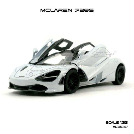 โมเดลรถ แมคลาเรน 720S สีขาว (1:36) โมเดลรถ รุ่นขายดี