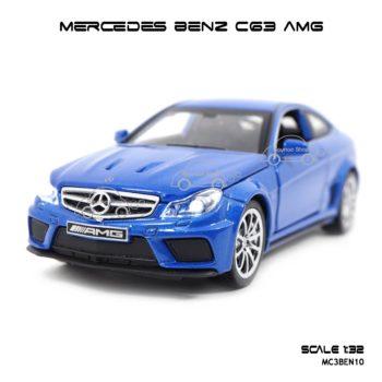โมเดลรถเบนซ์ MERCEDES BENZ C63 AMG สีน้ำเงิน (1:32)