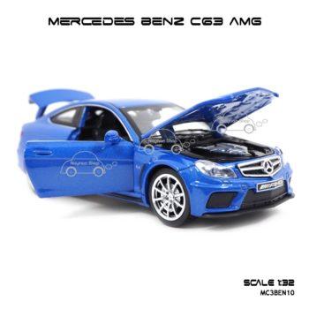 โมเดลรถเบนซ์ MERCEDES BENZ C63 AMG สีน้ำเงิน (1:32) เปิดได้ครบ