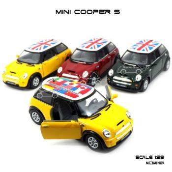 โมเดลรถ Mini Cooper S หลังคาลายธงชาติ
